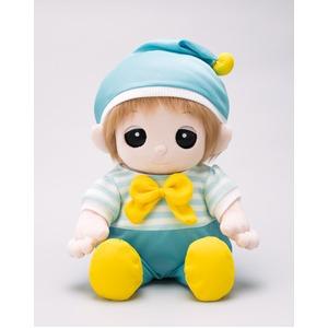 夢コレ45水色ロンパース(帽子付き)