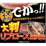 【訳あり】大判黒毛和牛リブロース焼き肉用 150g×5枚【A4かA5】