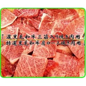 【お歳暮用 のし付き(名入れ不可)】A4・A5等級のみ黒毛和牛肩ロース焼き肉用500g&三筋入り焼き肉用500g