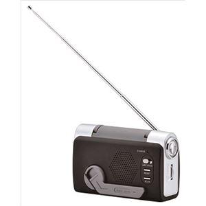 携帯式エコロジートリプルラジオ【約120mm×48mm×75mm】約170gFM対応『HOMESWAN』