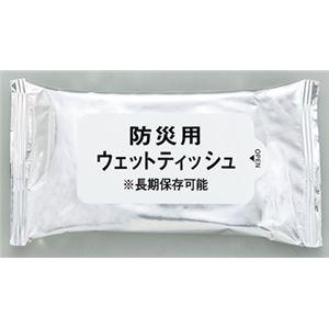 防災用ウエットティッシュ ハンディ20枚入【5個セット】 - 拡大画像