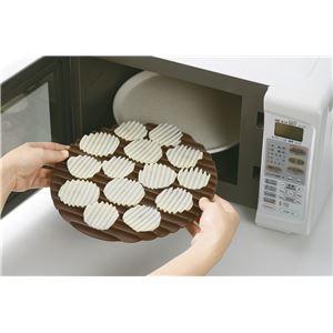 ポテトチップスメーカー/調理器具 【スライサー付き】 電子レンジ対応 『レンジで作るざく切りチップス』 〔キッチン 台所〕