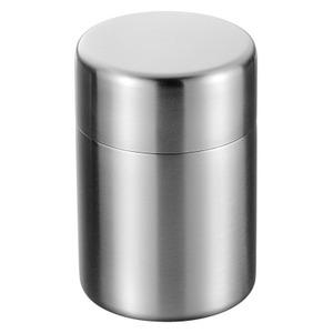 ステンレス茶筒/茶器【200ml】日本製直径6.6cm×高さ9.9cm『アサヒ』〔茶席キッチン台所〕