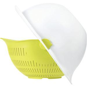 ボウル一体型ざる/調理器具 【大サイズ オレンジ】 日本製 食器洗浄機対応 『ミラくるザル・ボウル』 〔キッチン 台所〕