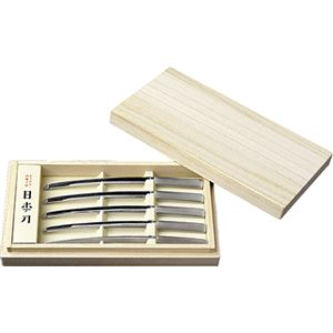 ようかん・和菓子用 日本刀 5本入 木箱入 (巻きラベル)