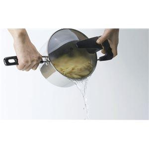 KY-01 KINDNESS(カインドネス) 便利なガラス蓋の湯切り片手鍋18cm