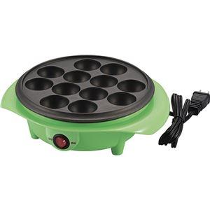 AD-12 電気たこ焼き器 12穴 緑 (箱入)
