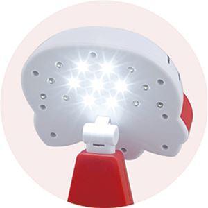 ハローキティ 卓上LEDライト/照明器具 【約132×109×187mm】 LED×15球 単3電池対応 〔書斎 子供部屋〕