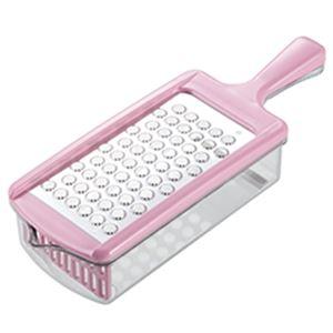 ステンレス製おろし器「おろしぼり」 ピンク