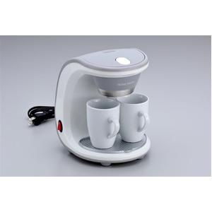 コーヒーメーカー 【陶製マグカップ×2個付き】 16.5cm×18cm×22cm フィルター 計量スプーン付き 『HOME SWAN』