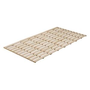 桐 四つ折り すのこベッド セミダブル用 3261 - 拡大画像