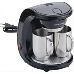 コーヒーメーカー 【ステンレス製マグカップ×2個付き】 16.5cm×18cm×22cm メッシュフィルター 計量カップ付き 『HOME SWAN』