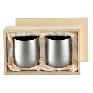 チタン製タンブラー/ビアカップ【2PCS】日本製2重カップ『アサヒ』〔カフェバー〕