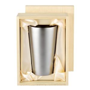チタン製 タンブラー/ビアカップ 日本製 2重カップ TW-5 『アサヒ』 〔カフェ バー〕