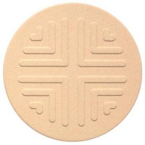 コースター【吸水コースター】いつでもさらさら (エンボス丸型 10枚セット(珪藻土)) - 拡大画像