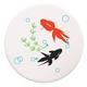 吸水コースター いつでもさらさら (金魚 4枚セット(白)) - 縮小画像1