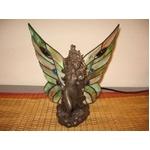 美しい羽のフェアリーさんのステンドグラスランプ