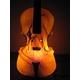 暖かな光のバイオリンランプ 写真2