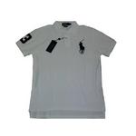 POLO Ralph Lauren(ポロ ラルフローレン) ビッグポニーポロシャツ(半袖) カスタムフィット ホワイト×ネイビー Mサイズ【送料無料】