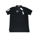 POLO Ralph Lauren(ポロ ラルフローレン) ビッグポニーポロシャツ(半袖) カスタムフィット ブラック×ホワイト Lサイズ【送料無料】