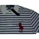 POLO Ralph Lauren(ポロ ラルフローレン) ビッグポニーストライプポロシャツ(半袖) カスタムフィット ホワイト×ブルー Lサイズ - 縮小画像2