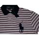POLO Ralph Lauren(ポロ ラルフローレン) ビッグポニーストライプポロシャツ(半袖) カスタムフィット ホワイト×レッド Lサイズ - 縮小画像2