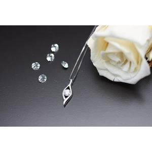 「ハート&キューピット」 ダイヤモンドネックレス