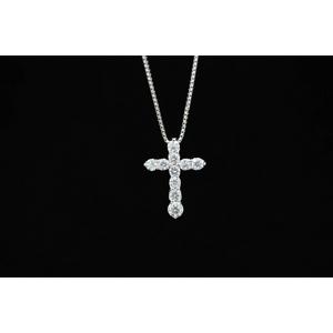 1ctダイヤモンドクロスネックレス JK06888の写真1