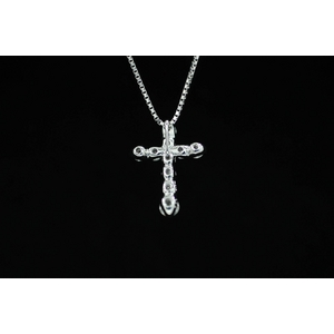 1ctダイヤモンドクロスネックレス JK06888の写真3