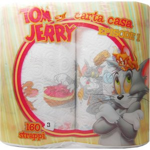TOM&JERRY キッチンペーパー 2Pロール×【12個セット】 - 拡大画像