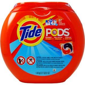 洗濯用洗剤 TIDE PODS(タイドポッズ)オーシャンミスト51oz(57回分) - 拡大画像