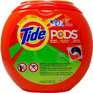 洗濯用洗剤 TIDE PODS(タイドポッズ)アルパイン ブリーズ51oz(57回分) - 拡大画像