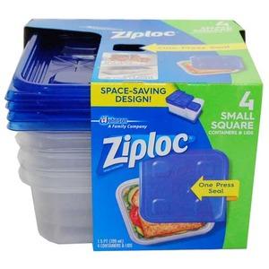 Ziploc コンテナ スクエアスモール 4P 【2個セット】