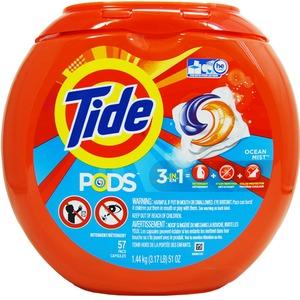 洗濯用洗剤 TIDE PODS(タイドポッズ)オーシャンミスト(57回分)