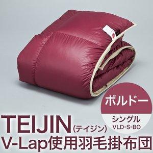TEIJIN(テイジン) V-Lap使用羽毛掛け布団 シングル ボルドー VLD-S-BO
