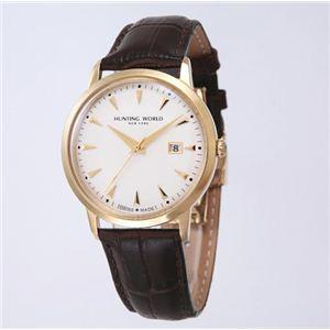 【訳あり・在庫処分】HUNTING WORLD(ハンティングワールド) 腕時計 プレゼンテ クォーツ スイスメイド HW914GSIBR - 拡大画像