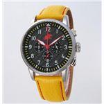 【訳あり・在庫処分】【訳あり商品:電池切れ】HUNTING WORLD(ハンティングワールド) 腕時計 カンガ クォーツ イタリア製 HW013YL 黄革