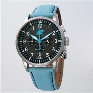 HUNTING WORLD(ハンティングワールド) 腕時計 カンガ クォーツ イタリア製 HW013BL 青革 - 拡大画像