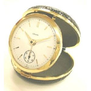 これぞ日本の職人芸!トカゲ皮張り機械式ぜんまい時計「時職人」(丸型)