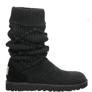 【UGG(アグ) AUSTRARIA】 ブーツ Classic Argyl Knit Boots/BLACK★US7
