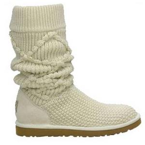 【UGG(アグ) AUSTRARIA】 ニットブーツ Classic Argyl Knit Boots/CREAM★US7