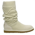 【UGG(アグ) AUSTRARIA】 ニットブーツ Classic Argyl Knit Boots/CREAM★US8