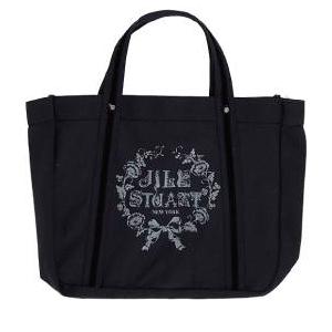 JILL STUART(ジルスチュアート) ラメロゴキャンパストートバッグ(ブラック)