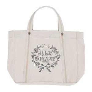JILL STUART(ジルスチュアート) ラメロゴキャンパストートバッグ(ホワイト)