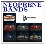 POWER BALANCE NEOPLANE BANDS (ブラック×シルバー/M)