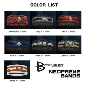POWER BALANCE NEOPLANE BANDS(パワーバランス ネオプレーンバンド) ブラック×シルバー/Mの写真2