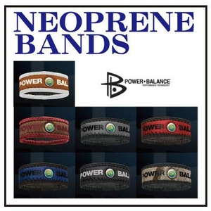 POWER BALANCE NEOPLANE BANDS(パワーバランス ネオプレーンバンド) ブルー(ネイビー)×ブラック/Lの写真1