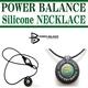 POWERBALANCE(パワーバランス) シリコンネックレス/ブラック