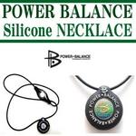 POWERBALANCE(パワーバランス) シリコンネックレス/クリアー