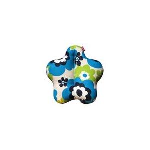 新感覚腰用クッション Cubeads「キュッキュッFurni」(フラワーブルー) - 拡大画像